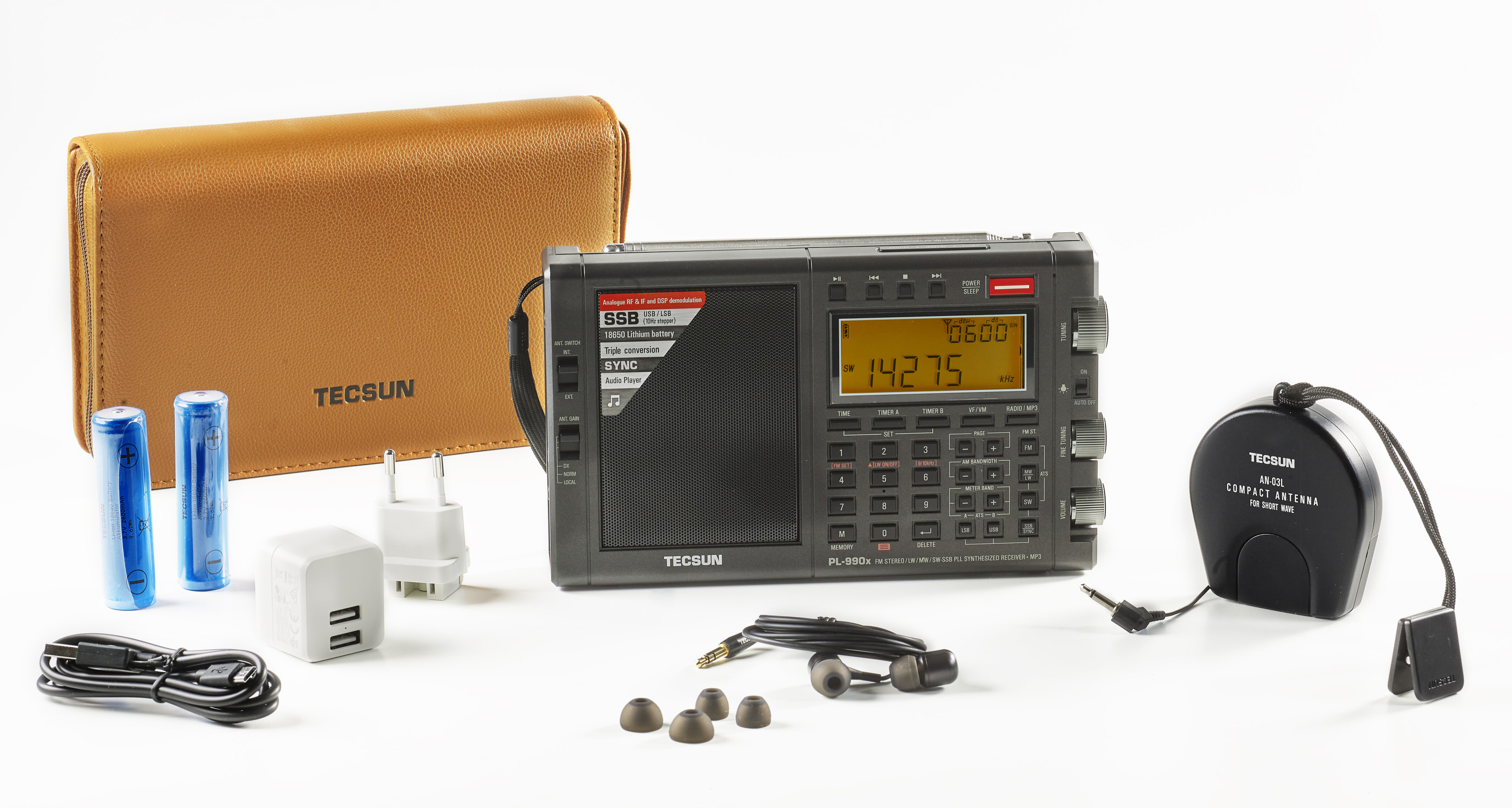 TECSUN PL-990x BLUETOOTH VERSION, AM FM SSB MAAILMANRADIO. UUTUUS!