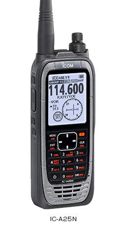 ICOM IC-A25NE AIR VHF 6W GPS ja BT